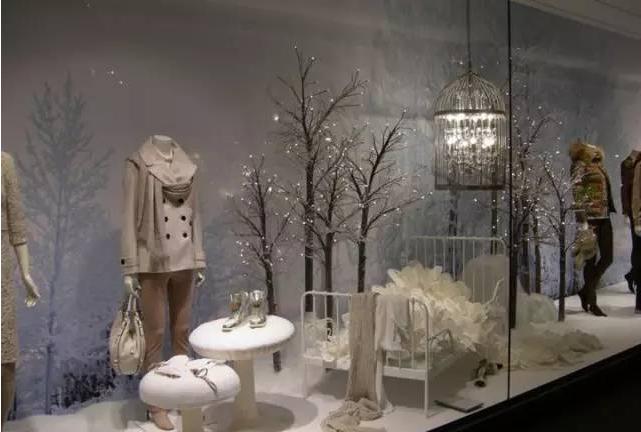 冬季为主题的橱窗陈列
